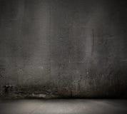 Fond noir de mur Photographie stock libre de droits