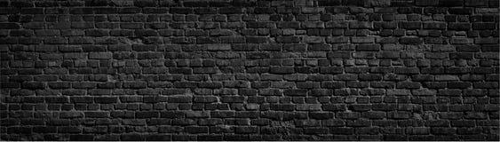 Fond noir de mur de briques Images stock