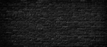 Fond noir de mur de briques images libres de droits