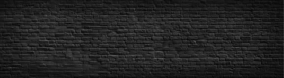 Fond noir de mur de briques photos libres de droits
