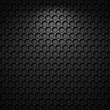 Fond noir de texture de modèle de cercle Images stock
