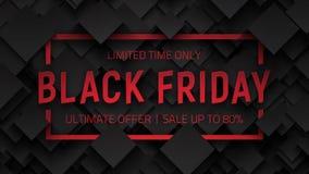 Fond noir de vecteur de vente de vendredi Photo libre de droits