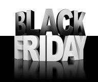 Fond noir de vendredi Photo libre de droits