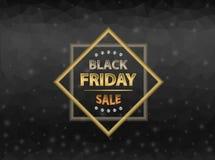 Fond noir de vendredi Image libre de droits