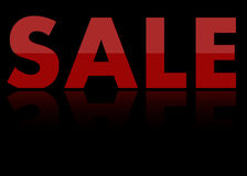 Fond noir de vente avec la réflexion Photo stock