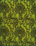 Fond noir de vert de modèle de dentelle de texture Image stock