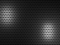 Fond noir en métal illustration de vecteur