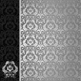 Fond noir et argenté Photographie stock libre de droits