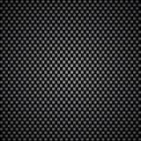 Fond noir et argenté de fibre de carbone Images libres de droits