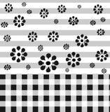 Fond noir et blanc Photos libres de droits