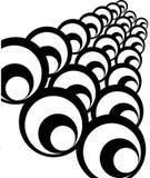 Fond noir et blanc abstrait. Photo libre de droits