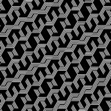 Fond noir et blanc abstrait de modèle d'hexagone illustration de vecteur