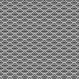 Fond noir et blanc abstrait de modèle de triangle illustration stock