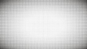 Fond noir et blanc abstrait de points Bruit comique Art Style Effet de la lumière Fond de gradient avec des points Illustration Stock