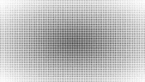 Fond noir et blanc abstrait de points Bruit comique Art Style Effet de la lumière Fond de gradient avec des points Illustration Libre de Droits