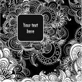 Fond noir et blanc abstrait de vecteur. Images stock