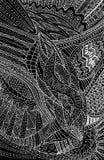 Fond noir et blanc abstrait ethnique tribal d'imagination Images libres de droits