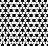 Fond noir et blanc avec la texture de ballon de football Photographie stock libre de droits