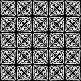 Fond noir et blanc clair géométrique décoratif sans couture abstrait de modèle photographie stock libre de droits