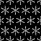 Fond noir et blanc d'hiver Photo libre de droits