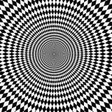 Fond noir et blanc de bourdonnement d'illusion optique Photo libre de droits