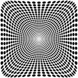 Fond noir et blanc de bourdonnement d'illusion optique de vecteur Photo libre de droits