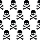 Fond noir et blanc de crânes Photos libres de droits