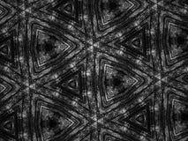 Fond noir et blanc de kaléidoscope de mosaïque de modèle Photo stock