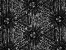 Fond noir et blanc de kaléidoscope de mosaïque de modèle Photos libres de droits