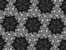 Fond noir et blanc de kaléidoscope de mosaïque de modèle Images libres de droits