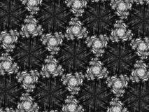 Fond noir et blanc de kaléidoscope de mosaïque de modèle Photos stock