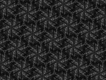 Fond noir et blanc de kaléidoscope de mosaïque de modèle Image stock