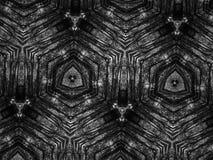 Fond noir et blanc de kaléidoscope de mosaïque de modèle Image libre de droits