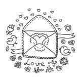 Fond noir et blanc de mariage Photos stock
