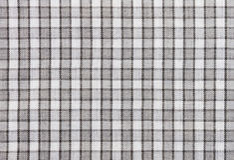 Fond noir et blanc de modèle de texture de tissu de nappe pour Image stock