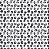 Fond noir et blanc de modèle de pattes d'animal familier illustration de vecteur