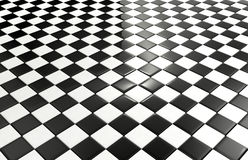 Fond noir et blanc de tuiles Image stock