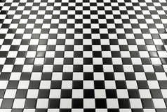Fond noir et blanc de tuiles Photographie stock