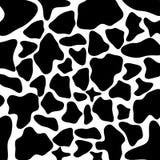 Fond noir et blanc de vache Image stock