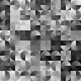 Fond noir et blanc géométrique abstrait Photo stock