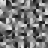 Fond noir et blanc géométrique abstrait Photographie stock libre de droits