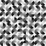 Fond noir et blanc géométrique abstrait Images stock