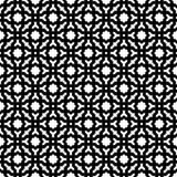 Fond noir et blanc géométrique décoratif sans couture abstrait de modèle Photo stock