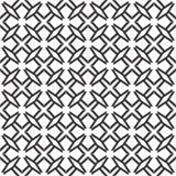 Fond noir et blanc géométrique floral sans couture décoratif de modèle Photos stock