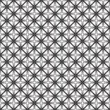 Fond noir et blanc géométrique floral sans couture décoratif de modèle Photos libres de droits