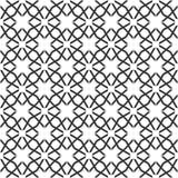 Fond noir et blanc géométrique floral sans couture décoratif de modèle Photo stock