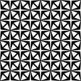 Fond noir et blanc géométrique floral sans couture décoratif de modèle Photo libre de droits