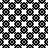 Fond noir et blanc géométrique floral sans couture décoratif de modèle Photographie stock libre de droits
