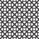 Fond noir et blanc géométrique floral sans couture décoratif de modèle Image libre de droits