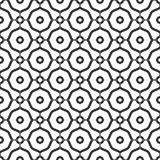 Fond noir et blanc géométrique floral sans couture décoratif de modèle Images stock